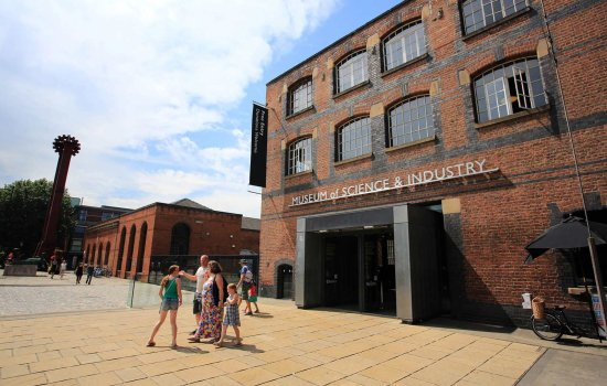 Image of the exterior of the Museum of Science and Industry in Manchester