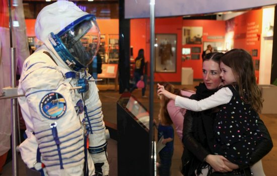 Sokol spacesuit on display at MSI