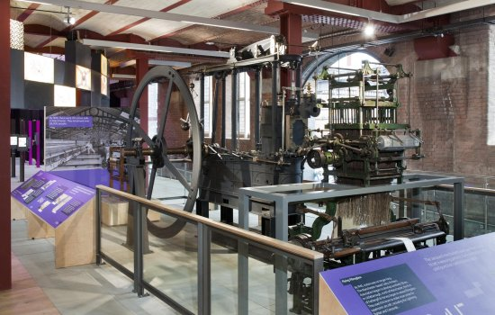 An industrial machine in a museum
