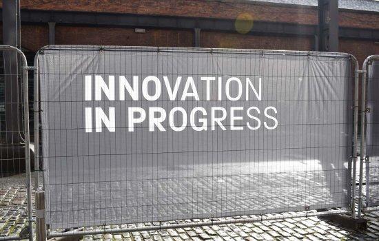 Innovation in Progress sign