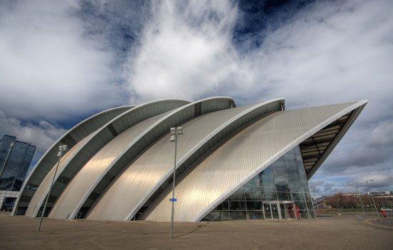 The exterior of the SECC exhibition centre