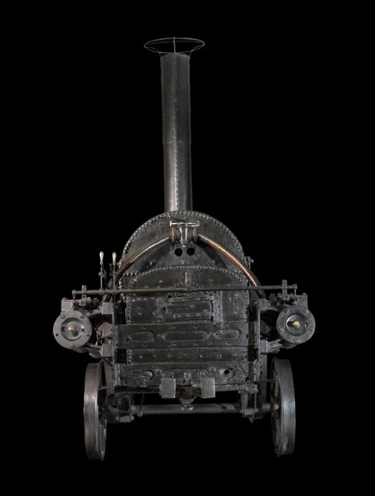 Stephenson's Rocket from the front
