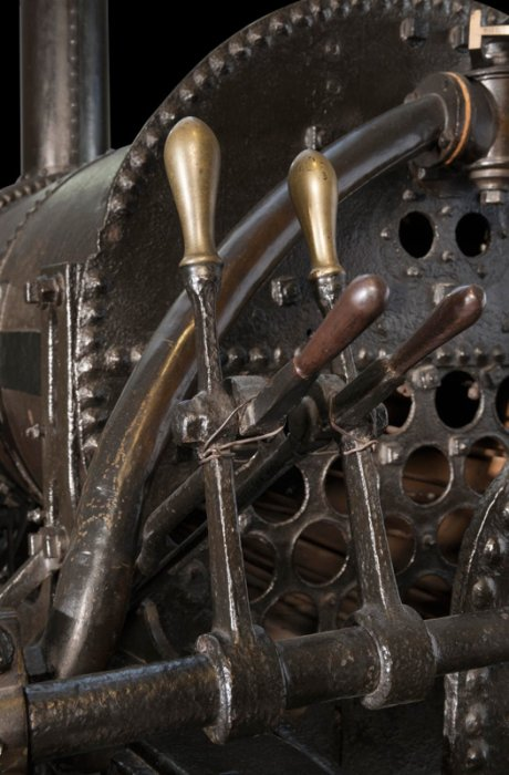 Close up of Stephenson's Rocket