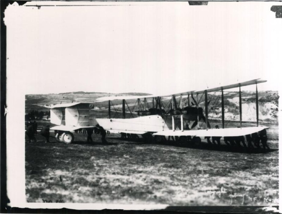Moving Vickers Vimy, Lester's Field, Newfoundland