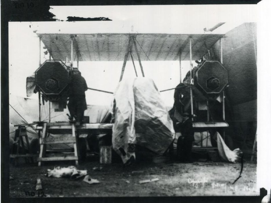 Vickers Vimy Being Assembled