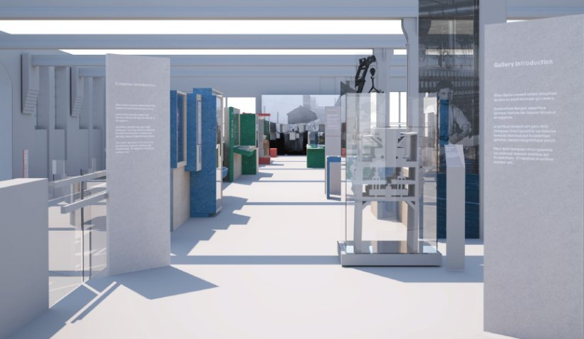 Textiles Gallery refresh - artist's impression