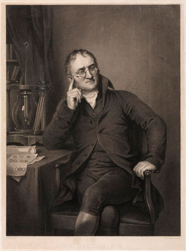 Engraving of John Dalton, Zanetti and Agnew, 1823