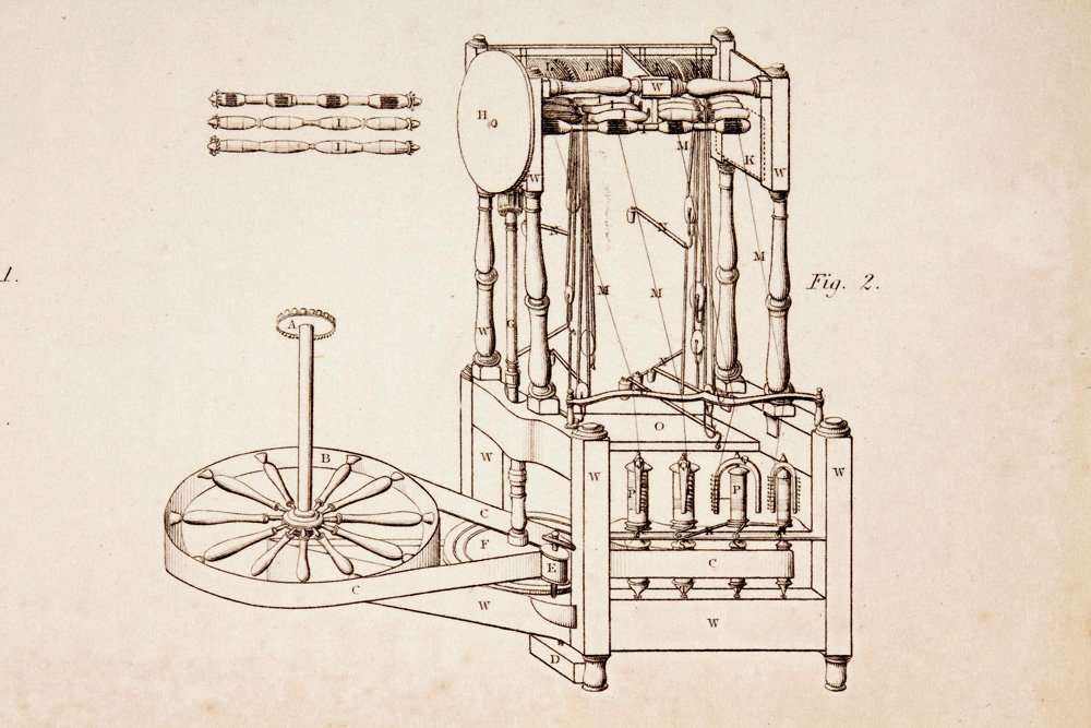 Water frame patent drawing